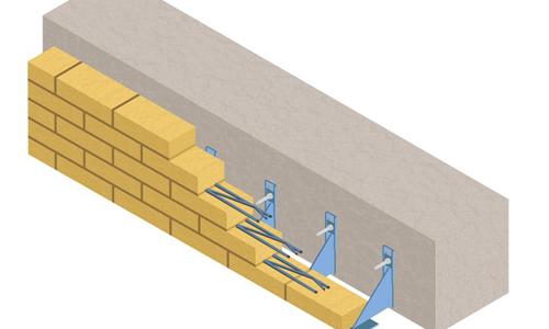 Схема укладки кирпичного фасада