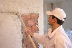Использование извести вместо цемента для отделки комнаты.