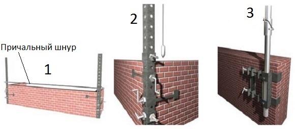 Как сделать шаблон для кладки кирпича своими руками 72