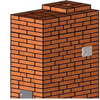 Прямоугольная печь самая простая по конструкции печь. Она состоит из двух ярусов.