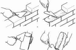 Технология кладки кирпичей