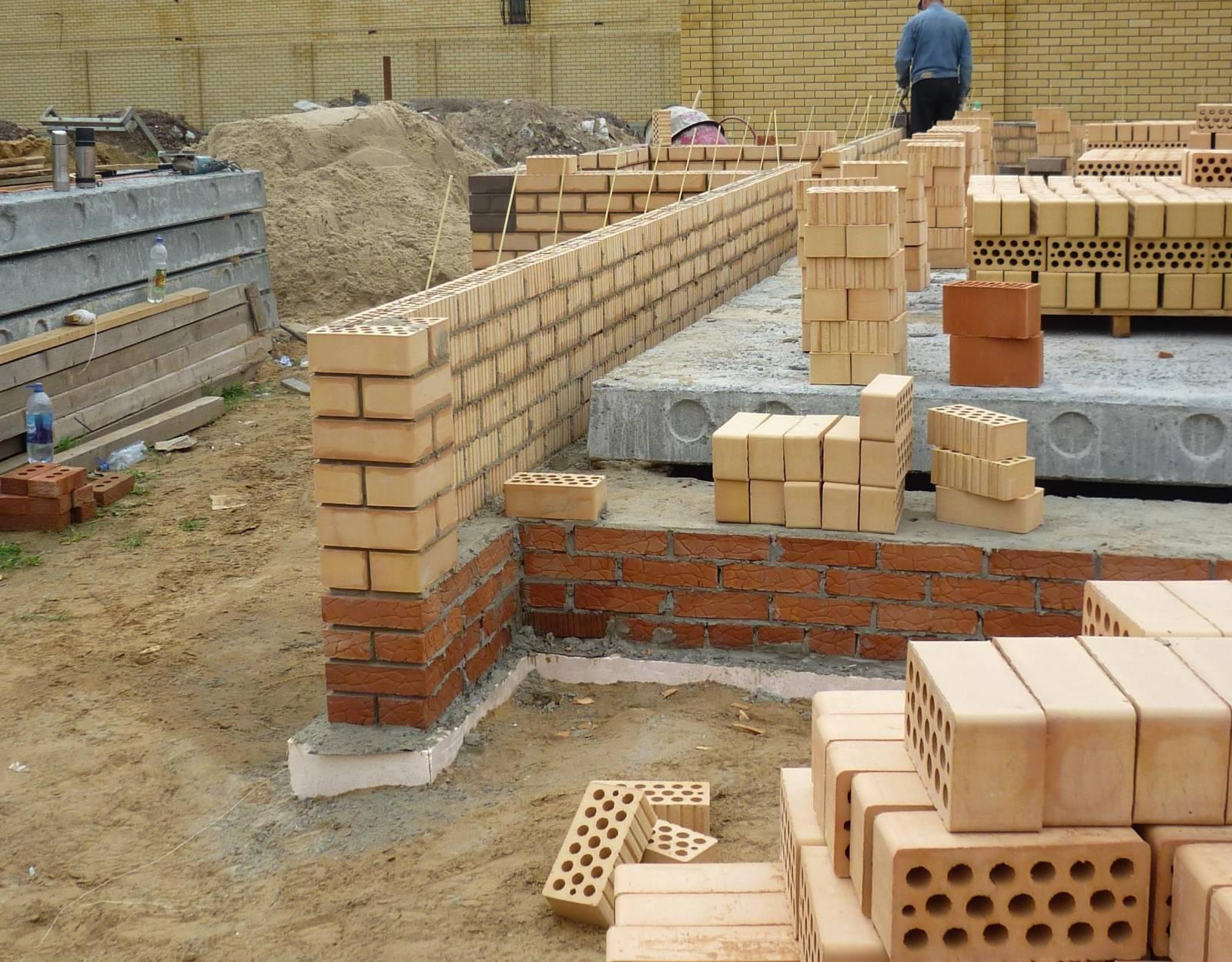 кладка стен после фундамента