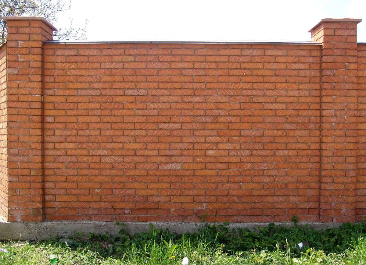 Fence brick wall design