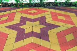 Многообразие цветов тротуарной плитки