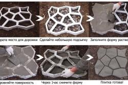 Схема использования формы для брусчатки